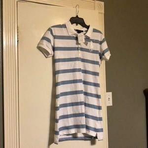 NWT Blue and white striped Ralph Lauren Polo dress